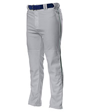 A4 N6162 Men's Drop Ship Pro Style Open Bottom Baggy Cut Baseball Pants at GotApparel