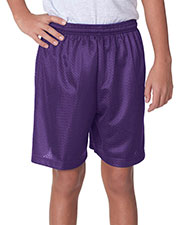 """A4 NB5301 Boys Tricot Lined 6"""" Mesh Shorts at GotApparel"""