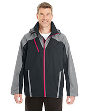 Ash City NE700  Men's Embark Interactive Colorblock Shell With Reflective Printed Panels at GotApparel