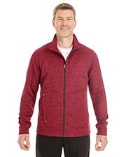 Ash City NE704 Men Amplify Melange Fleece Jacket at GotApparel