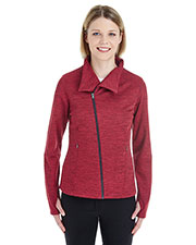 Ash City NE704W Women Amplify Melange Fleece Jacket at GotApparel