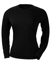 A4 NW3002 Drop Ship Women's Long Sleeve Cooling Performance Crew Shirt at GotApparel