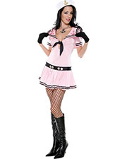 Halloween Costumes OR557211SD Women Sassy Sailor Pink Sd at GotApparel