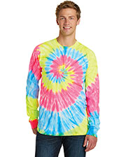 Port & Company PC147LS Adult Essential Tie-Dye Long-Sleeve Tee at GotApparel