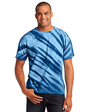 Port & Company PC148 Men Essential Tiger Stripe Tie-Dye Tee at GotApparel