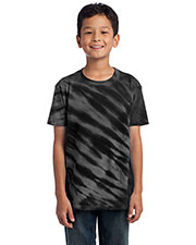 Port & Company PC148Y Boys Essential Tiger Stripe Tie-Dye Tee at GotApparel