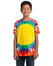 Port & Company PC149Y Boys Essential Window Tie-Dye Tee at GotApparel