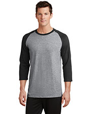 Port & Company PC55RS Adult 50/50 Cotton/Poly 3/4Sleeve Raglan T-Shirt at GotApparel
