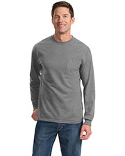 Port & Company PC61LSPT Men Tall Long Sleeve Essential Pocket Tee at GotApparel