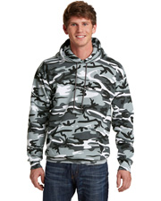 Port & Company PC78HC Men   Core Fleece Camo Pullover Hooded Sweatshirt at GotApparel