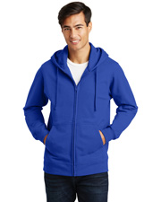 Port & Company PC850ZH Men   Fan Favorite Fleece Full-Zip Hooded Sweatshirt at GotApparel