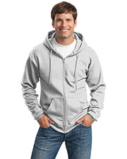Port & Company PC90ZHT Men Tall Ultimate Full-Zip Hooded Sweatshirt at GotApparel