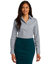 Red House RH71 Women Windowpane Plaid Non-Iron Shirt at GotApparel