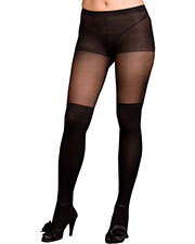 PANTYHOSE SHEER BLACK QUEEN at GotApparel