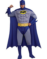 Halloween Costumes RU17596 Men Batman Dlx Plus Muscle Chest at GotApparel