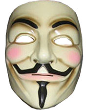 Halloween Costumes RU4418  V FOR VENDETTA MASK at GotApparel