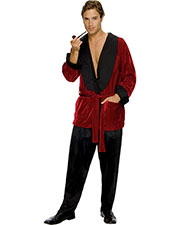 Halloween Costumes RU889295 Men Hugh Hefner Smoking Jacket at GotApparel