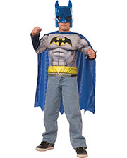 Halloween Costumes RUG31422 Boys Batman Muscle Chest Set Child at GotApparel