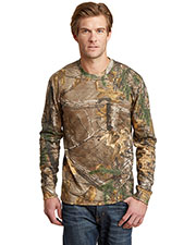 Russell Outdoor™ S020R Adult Realtree® Explorer 100% Cotton Long Sleeve T-Shirt with Pocket at GotApparel