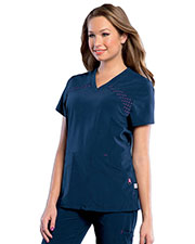Smitten S101030 Women V-Neck Tunick With Top Load Pocket at GotApparel
