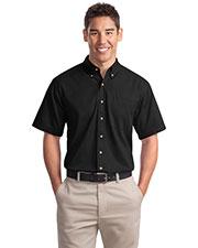 Port Authority S500T Men Short-Sleeve Twill Shirt at GotApparel