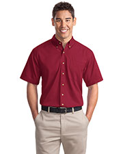 Port Authority S500T Men Short Sleeve Twill Shirt at GotApparel