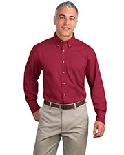 Port Authority S600T Men Long Sleeve Twill Shirt at GotApparel