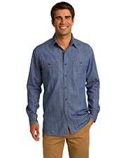 Port Authority S652 Men Patch Pocket Denim Shirt at GotApparel