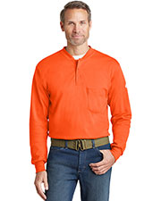 Bulwark SEL2 Mens Long-Sleeve Tagless Henley at GotApparel
