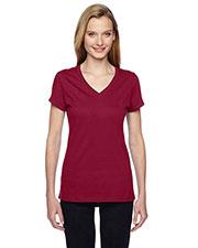 Fruit Of The Loom SFJVR Women 4.7 Oz. 100% Sofspun Cotton Jersey V-Neck T-Shirt at GotApparel
