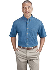 Port & Company SP11 Men Short Sleeve Value Denim Shirt at GotApparel