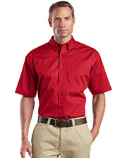 CornerStone® SP18 Men's Short-Sleeve SuperPro™ Twill Shirt at GotApparel