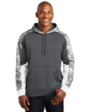 Sport-Tek® ST231 Men   Sport-Wick  Mineral Freeze Fleece Colorblock Hooded Pullover at GotApparel