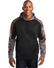 Sport-Tek ST231  ® Sport-Wick® Mineral Freeze Fleece Colorblock Hooded Pullover. . at GotApparel