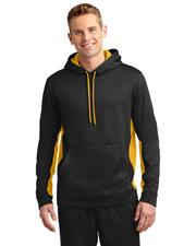 Sport-Tek® ST235 Men Sport-Wick Fleece Colorblock Hooded Pullover at GotApparel