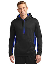 Sport-Tek® ST235 Men Sport-Wick Fleece Colorblock Hooded Pullover at GotApparel