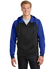 Sport-Tek ST236 Adult Varsity Fleece Full Zip Hooded Jacket at GotApparel