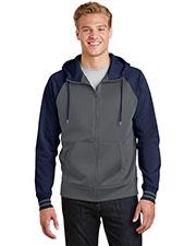 Sport-Tek® ST236 Adult Varsity Fleece Full-Zip Hooded Jacket at GotApparel