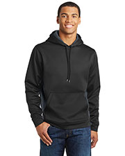Sport-Tek ST239 Men Sport-Wick CamoHex Fleece Colorblock Hooded Pullover at GotApparel