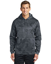 Sport-Tek® ST240 Men Sport-Wick Camohex Fleece Hooded Pullover at GotApparel