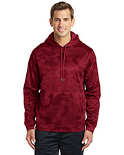 Sport-Tek ST240 Men Sport-Wick CamoHex Fleece Hooded Pullover at GotApparel