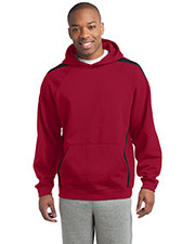 Sport-Tek ST265 Men Sleeve Stripe Pullover Hooded Sweatshirt at GotApparel