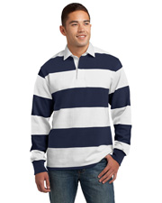 Sport-Tek ST301  ® Classic Long Sleeve Rugby Polo. . at GotApparel