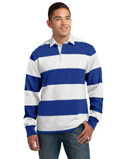 Sport-Tek® ST301 Men   Classic Long-Sleeve Rugby Polo at GotApparel