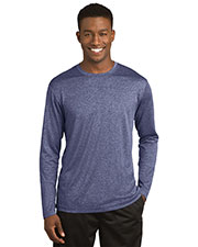 Sport-Tek® ST360LS Men Long-Sleeve Heather Contender Tee at GotApparel