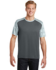 Sport-Tek ST371 Adult CamoHex Colorblock Tee at GotApparel