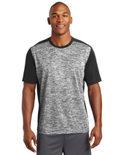 Sport-Tek ST395  ® Posicharge® Electric Heather Colorblock Tee. . at GotApparel