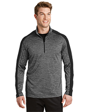 Sport-Tek® ST397 Men PosiCharge® Electric Heather Colorblock 1/4-Zip  at GotApparel