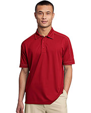 Sport-Tek ST659 Men Contrast Stitch Micropique Sport-Wick Polo at GotApparel