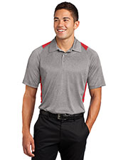 Sport-Tek ST665 Men Heather Colorblock Contender ™ Polo at GotApparel